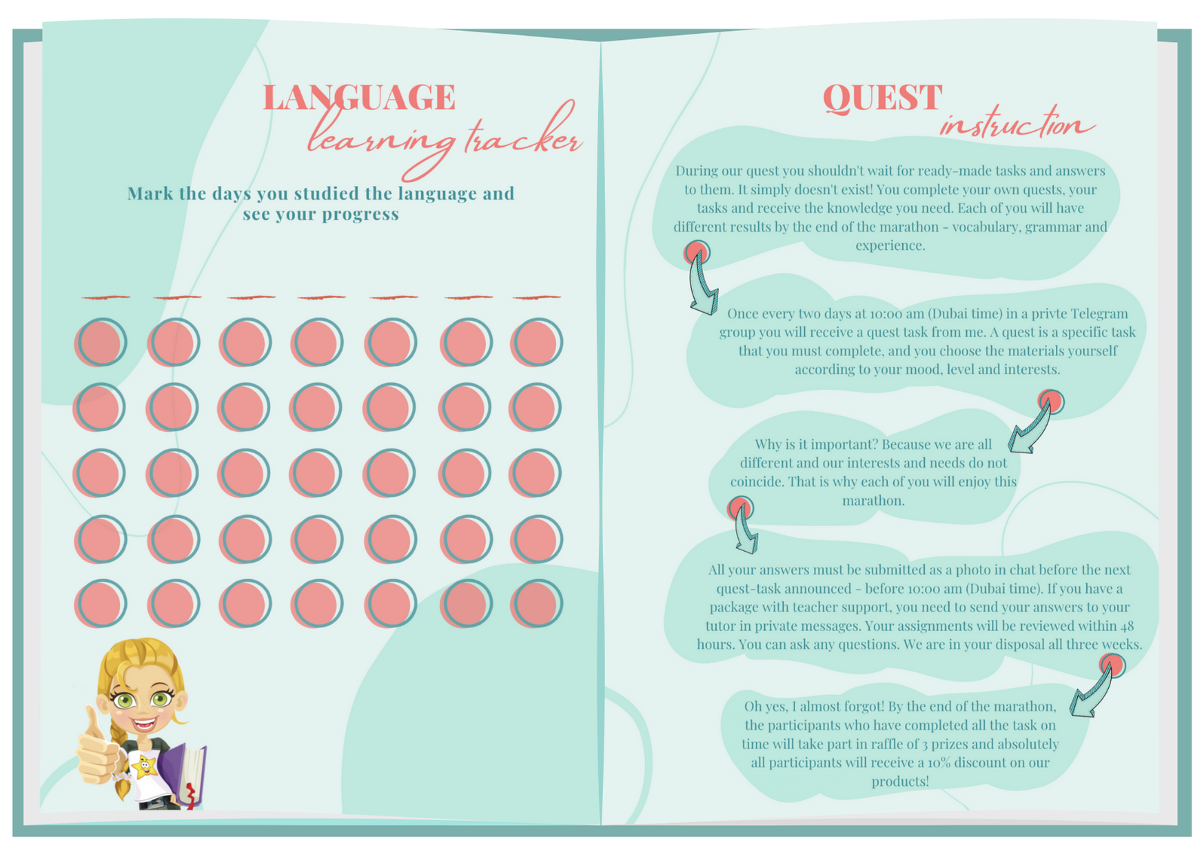 Language Marathon Workbook pages